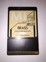 Click for large photo of Korg M1 Brass Program Card