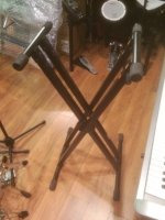 Click for large photo of  Heavy Duty X Keyboard Stand