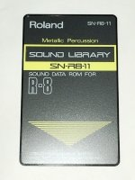 Click for large photo of Roland R8 Metallic Percussion Card SN-R8-11