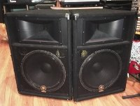 Click for large photo of Yamaha S115V Club Series Speaker Cabinets
