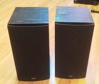 Click for large photo of Klipsh SB-1 Home Theater Bookshelf Speakers