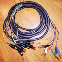 Click for large photo of  8 Channel XLR to TRS Snake